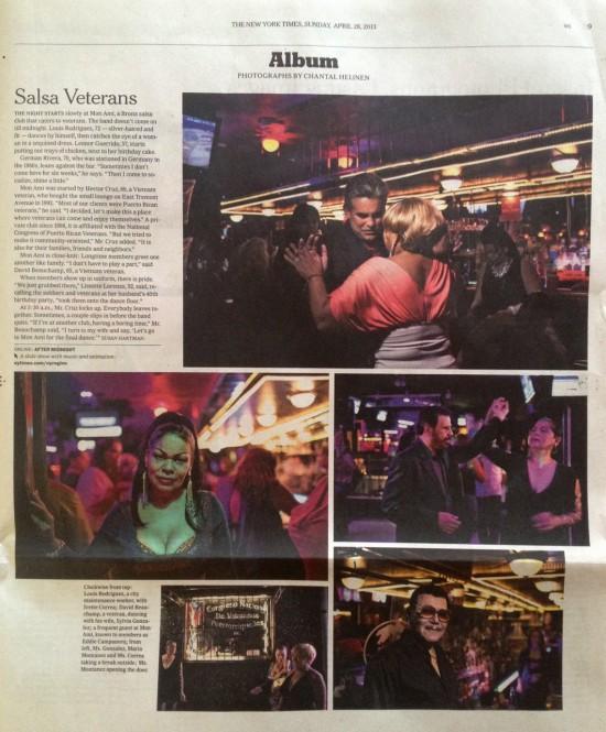 New York Times Publication | Salsa Veterans | April 28, 2013